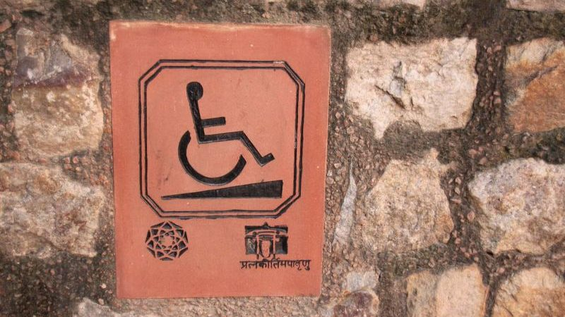 A wheelchair sign in India