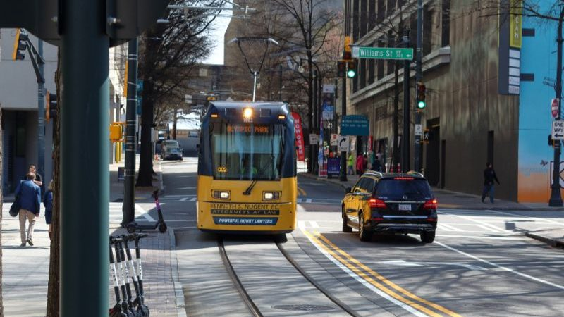 Streetcar in downtown Atlanta