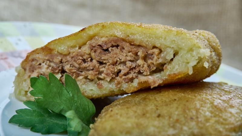 Potato coated meat patties from Belarus