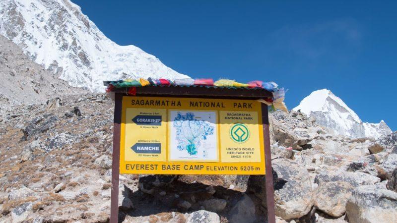 Sign of Sargamartha National Park