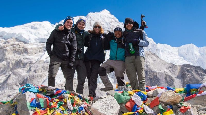 Group shot at Everest Base Camp