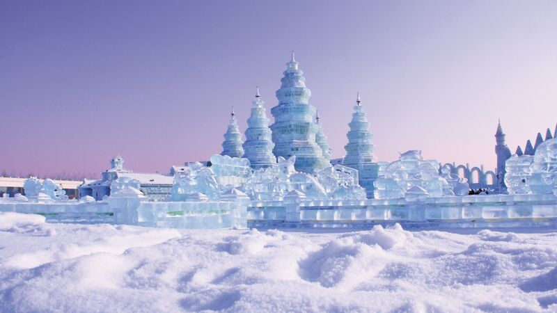 China harbin ice village