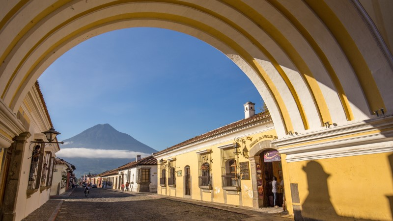 The pastel-hued streets of Antigua, Guatemala