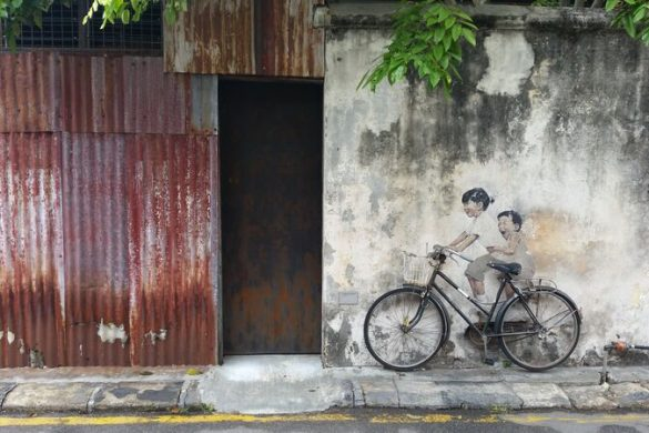 Street art and a bicycle in Malaysia