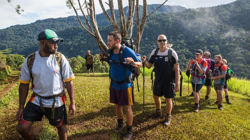 Trekkers on the Kokoda Track in Papua New Guinea