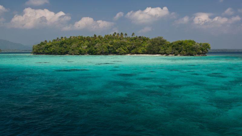 Remote island in the Solomon Islands