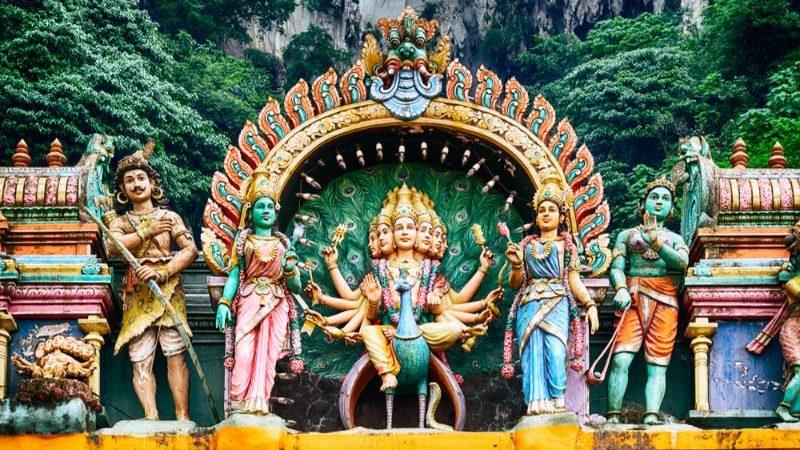 A Hindu temple at the Batu Caves in Kuala Lumpur