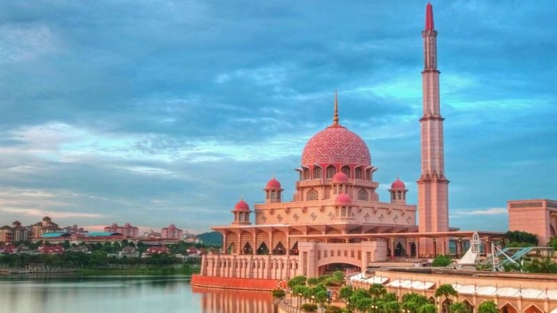 Beautiful mosque at sunset.