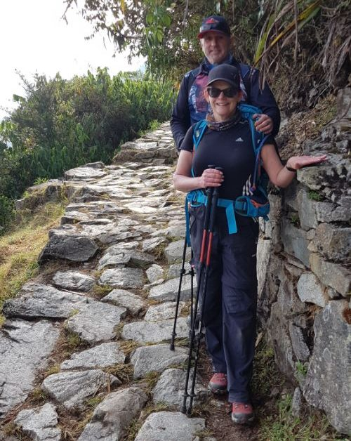 Two trekkers on the Inca Trail