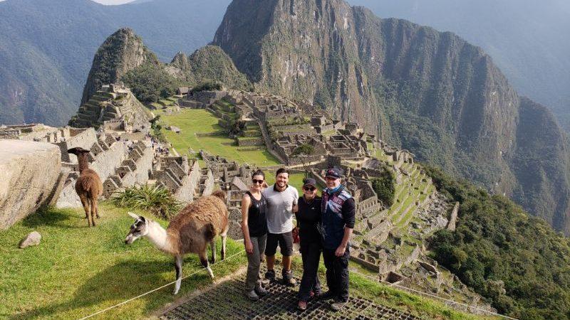 Hikers at Machu Picchu