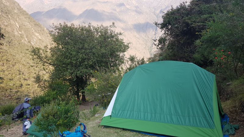 A tent on the Inca Trail
