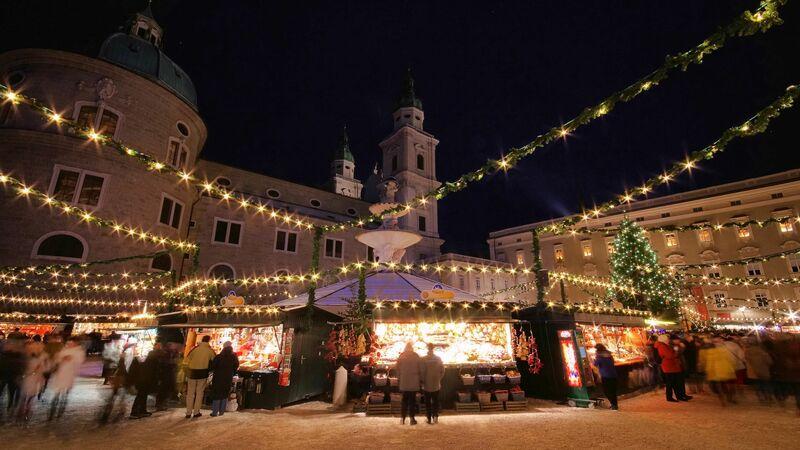 Christmas market in Salzburg, Austria.