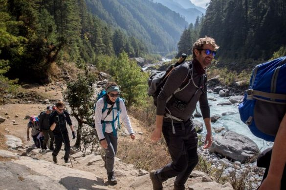 A group of hikers in Nepal