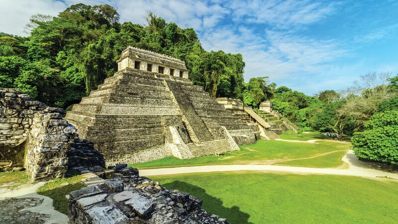 An ancient Mayan temple in Mexico