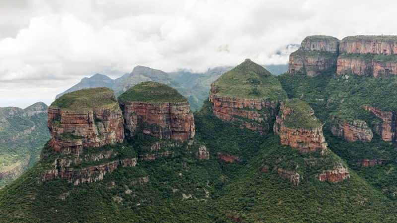 Views of the Three Rondavels in Blyde River Canyon