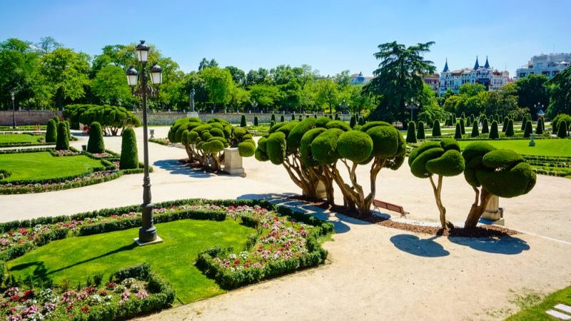 A beautiful park in Madrid
