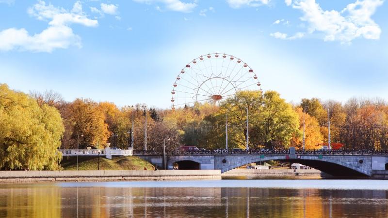 Views of Gorky Park in Minsk, Belarus