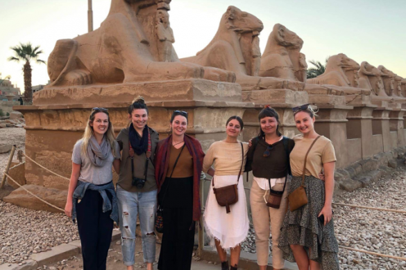 Group at Karnak Temple in Egypt