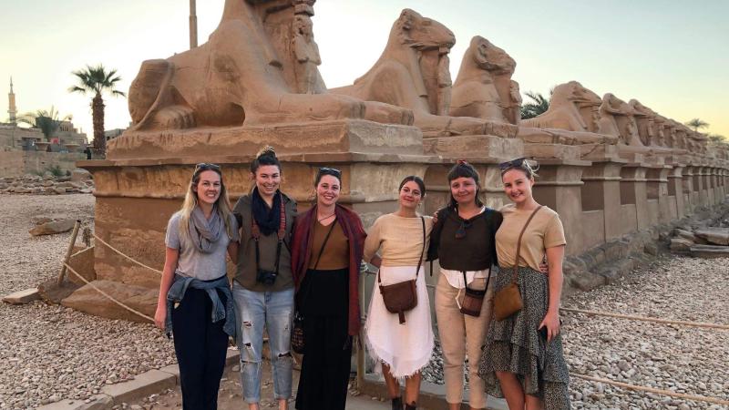 Group at Karnak Temple in Egypt