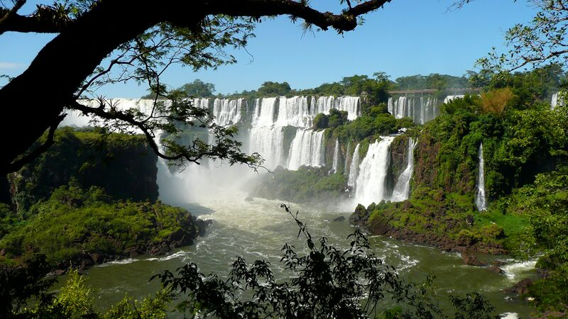 Waterfalls at Iguazu Falls