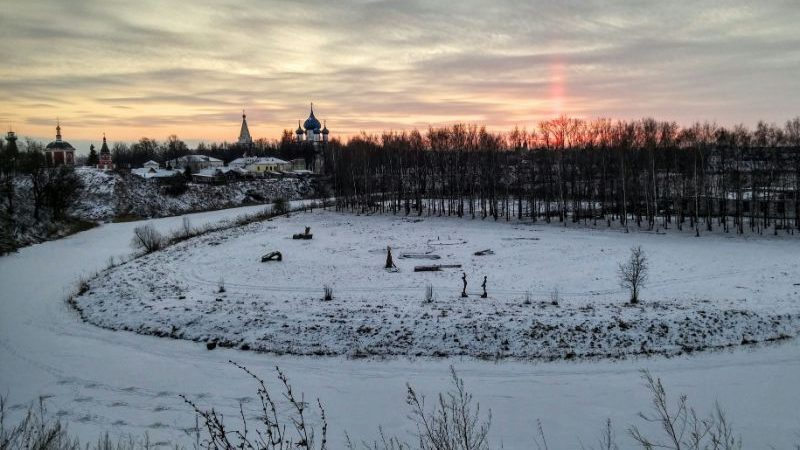 View over Suzdal at sunset