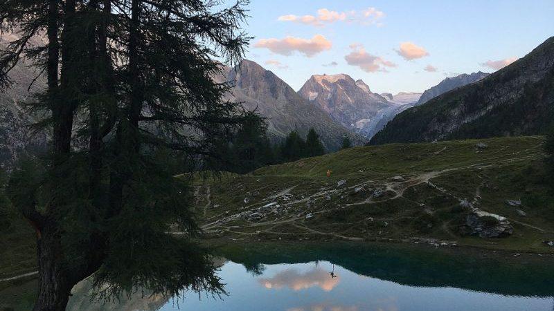 A beautiful lake in Switzerland