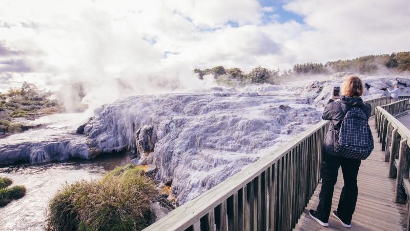 Waterfall in Te Puia