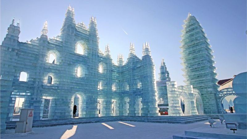 A house made of ice in China