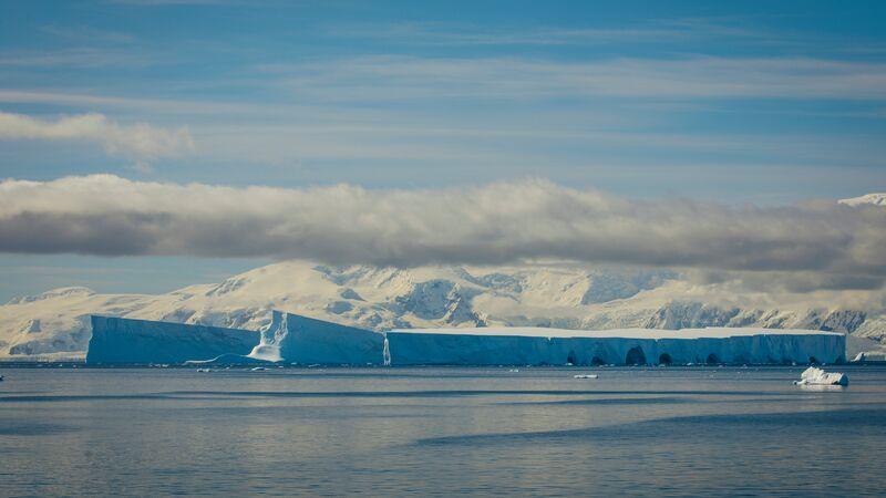 A huge iceberg in Antarctica