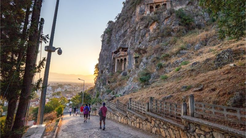 Walkers on the Lycian Way in Turkey