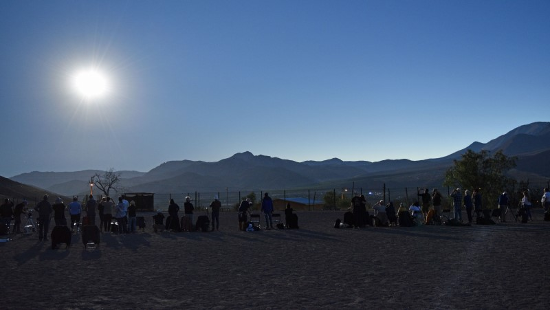 Eclipse site nearing totality in Chile