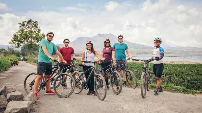 Cycling group in Kintamani