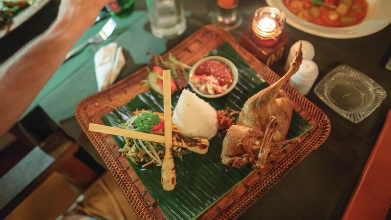 A Balinese meal in a warung