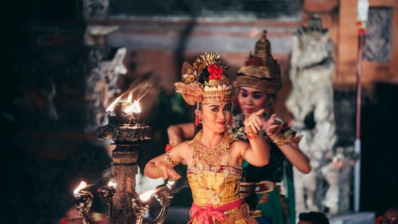 A traditional Balinese dance