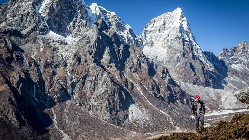 A hiker in Nepal.