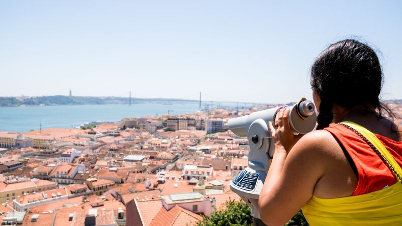 View from a hilltop in Lisbon, Portgual
