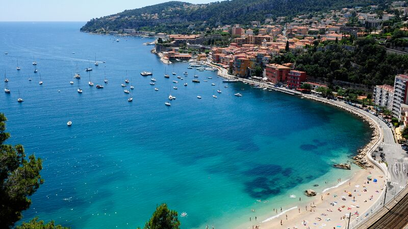 A beautiful beach in Nice, France