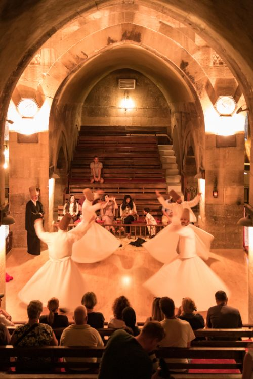 A whirling dervish performance in Turkey