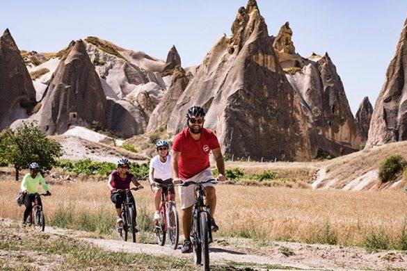 Cyclists in Cappadocia, Goreme