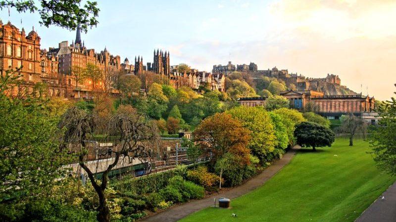 A beautiful park in Edinburgh