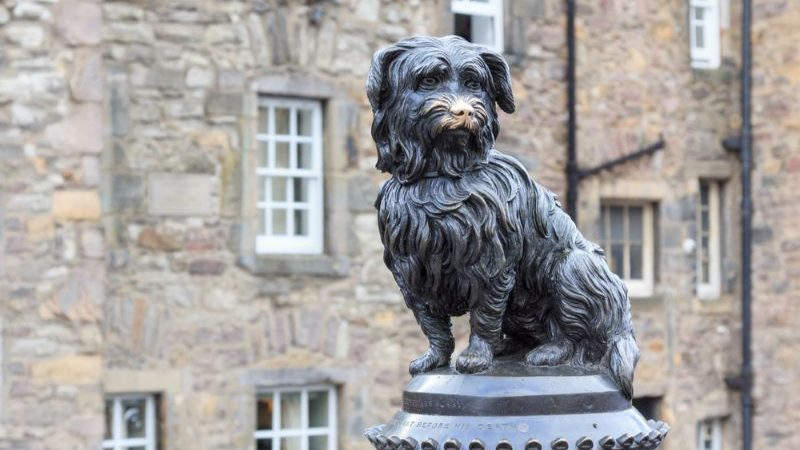 Sculpture of Bobby, the Skye Terrier, in Scotland