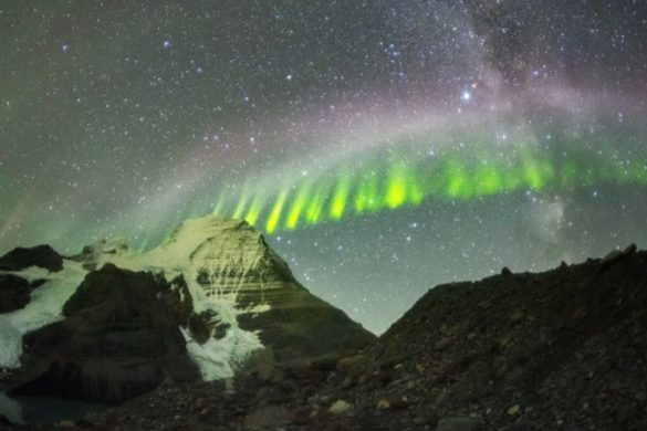 The Northern Lights at night