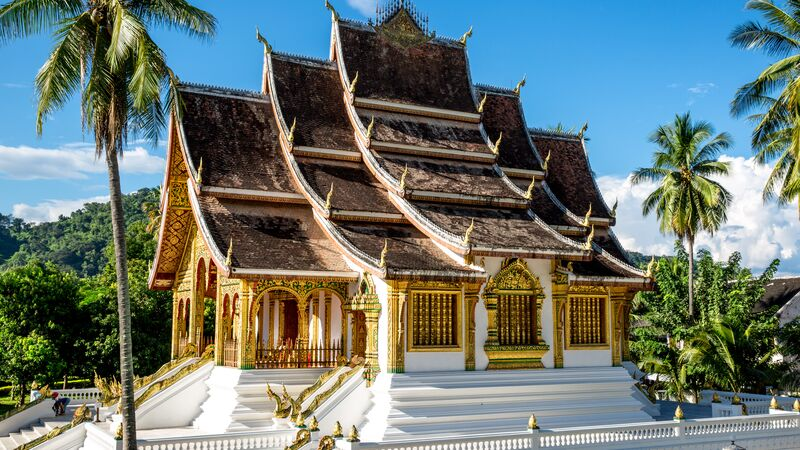 A gold temple in Luang Prabang, Laos
