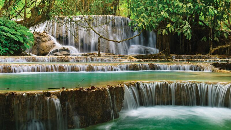 Waterfalls in Laos