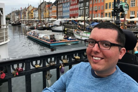 A smiling man in Amsterdam