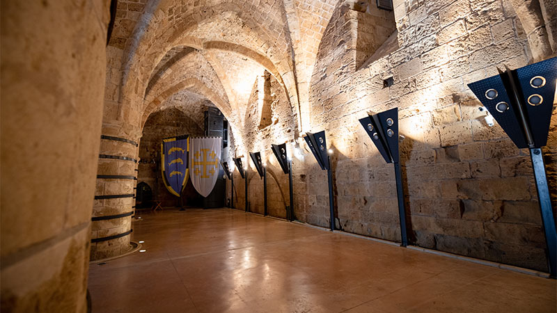 Inside the halls of the Knights Templar in Acre.