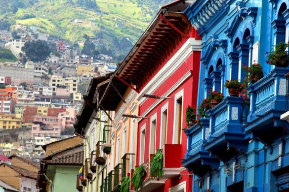 Colourful houses in Quito, Ecuador