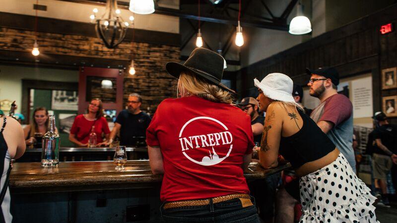 Tour leader standing at a bar in Nashville