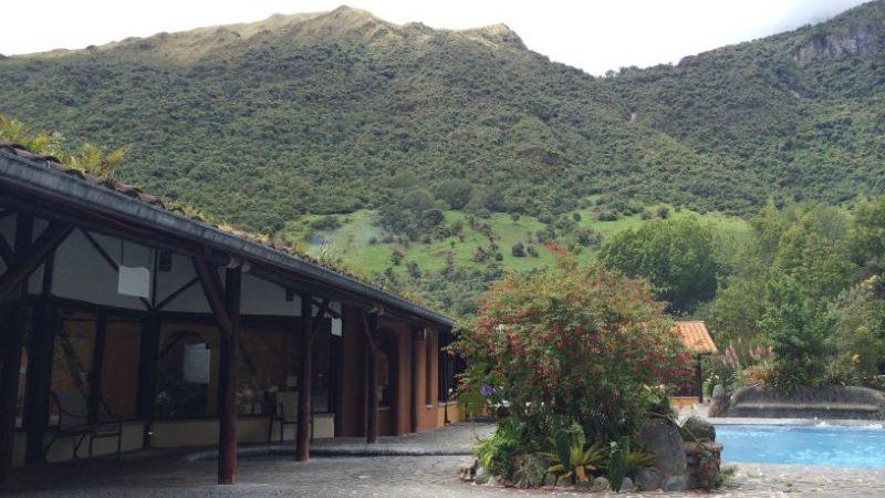 Outdoor hot springs in Ecuador