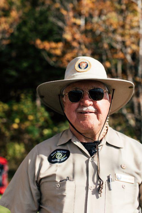 A park ranger in the Smoky Mountains